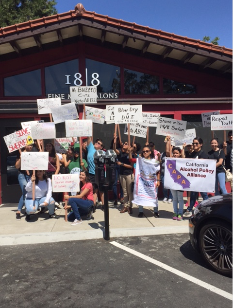 FNL Rallies with CA Alcohol Alliance Against Bill Allowing Alcohol in Salons