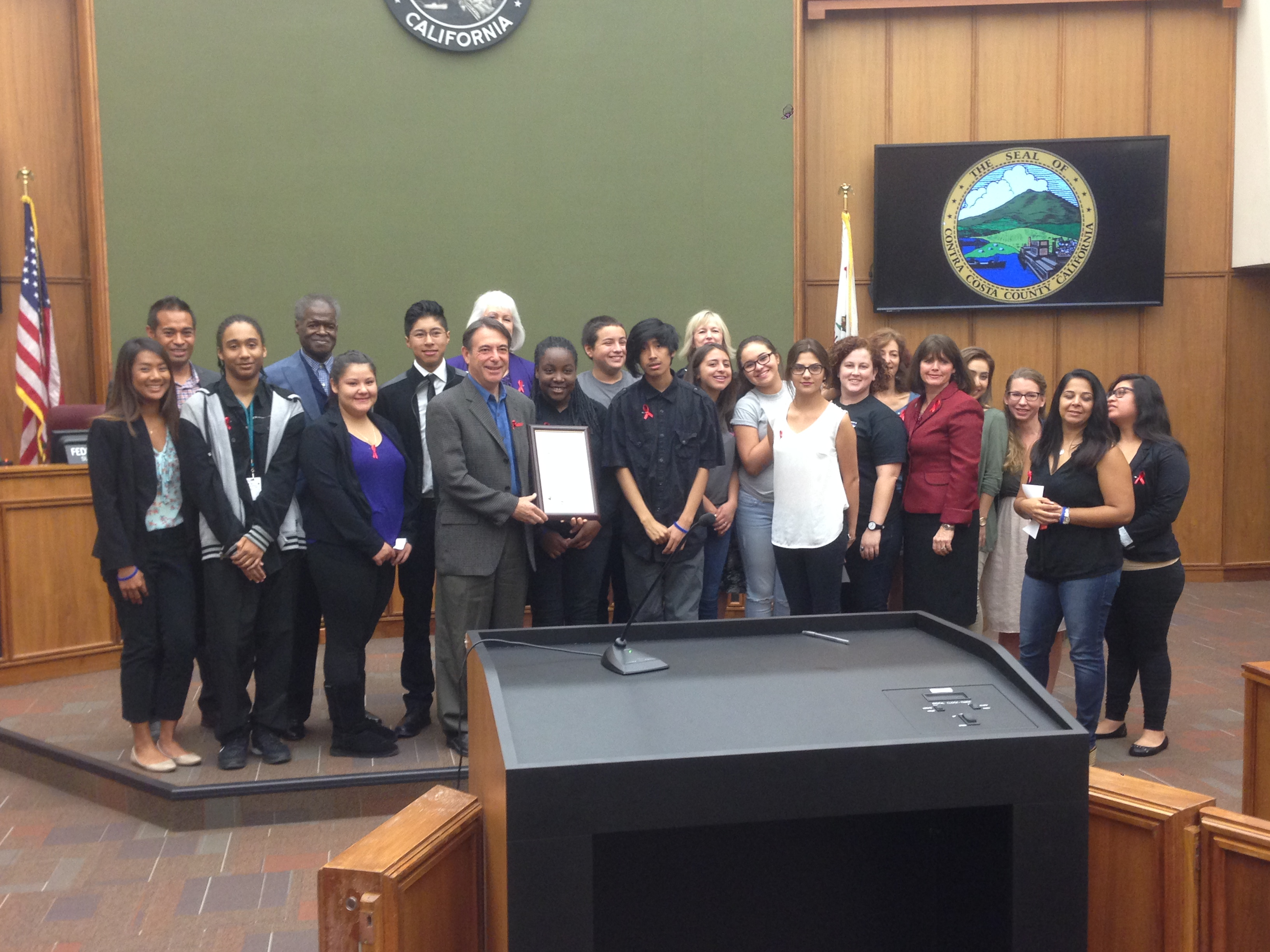 FNL Accepts Board of Supervisors Red Ribbon Week Proclamation