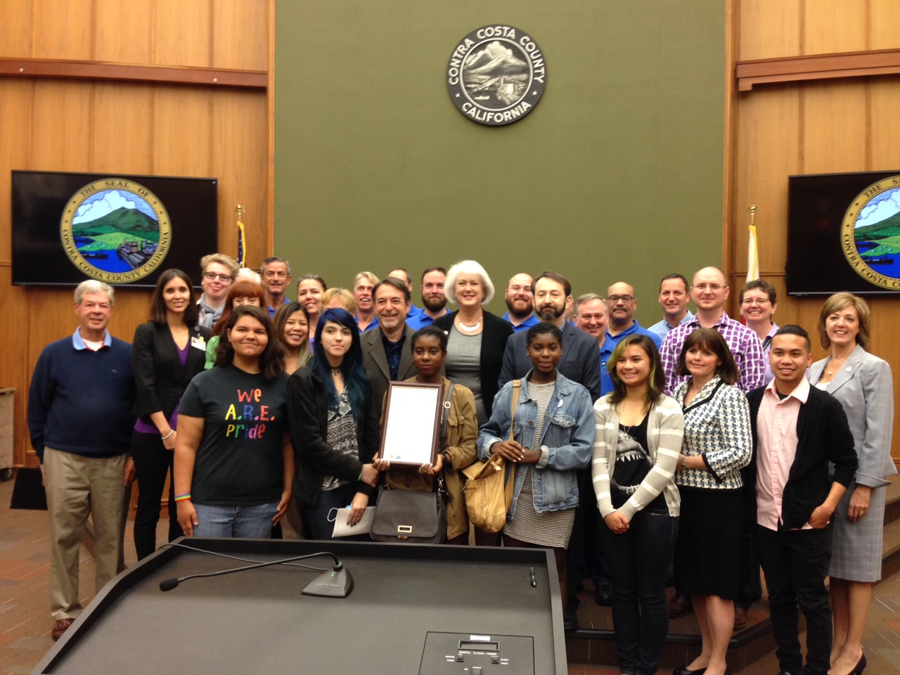 Contra Costa Board of Supervisors Proclamation-June Declared LGBTQQ Month